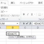【EXACT関数:エクセル】テキスト、数値が同じか判定する比較関数